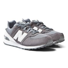 New Balance Grey and White Trainers