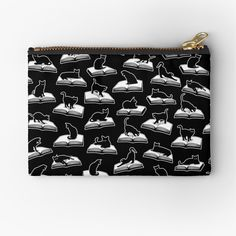 """Easily Distracted By Cats And Books Book & Cat Lover Pattern"" Zipper Pouch by GrandeDuc 