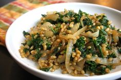 berries onion homes forward wheat berries with charred onion and kale ...
