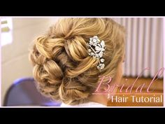 Classic bridal updo hair style tutorial for wedding updo hairstyles tutorials Updo Hairstyles Tutorials, Easy Updo Hairstyles, Wedding Hairstyles Tutorial, Wedding Guest Hairstyles, Vintage Hairstyles, Hair Tutorials, Hair Updo, Teenage Hairstyles, Hairstyles Videos