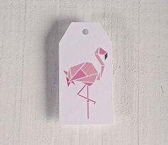 Printed labels Flamingo