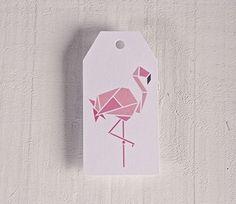 Printed labels Flamingo