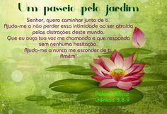 Promessas para hoje: Um passeio pelo jardim-Gênesis 3.8-9