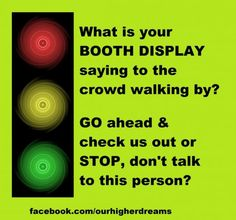 WANT TO BE NOTICED AT VENDOR EVENTS? Do you do vendor events for your Direct Sales or Network Marketing business? Here are some great tips to be noticed at the events & get people to stop at your booth. Vendor Displays, Vendor Booth, Craft Fair Displays, Market Displays, Display Ideas, Farmers Market Display, Vendor Events, Craft Show Ideas, Craft Business