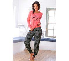 Pyžamo s kalhotami Buffalo Her Style, Parachute Pants, Buffalo, Arm, Sporty, T Shirt, Tops, Sweet Dreams, Products