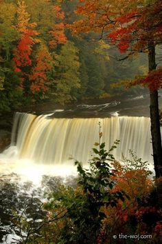 upper peninsula. Tahquamenon Falls. Like this picture shows, beautiful in the fall.