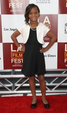 Amazing actress Quevenzhane Wallis -nine years old youngest ever to be nominated for an Oscar for Beasts of the Southern Wild (I have seen it twice and loved it)