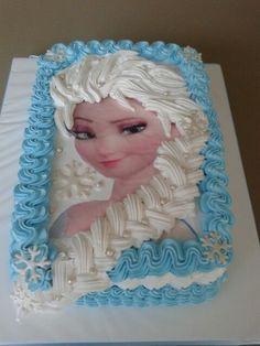 Deliciosa tarta para fiesta temática Frozen