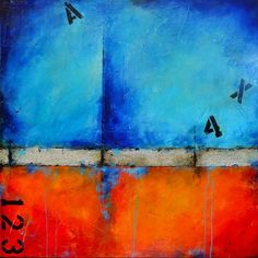 Urban Graffiti 2 - 36 x 36 - Abstract Acrylic Painting - Highly Textured - Contemporary Wall Art - Modern - Red Blue Orange by CharlensAbstracts Weekend Artist, Abstract Expressionism, Abstract Art, Urban Graffiti, Graffiti Art, Bleu Cobalt, Contemporary Wall Art, Mixed Media Painting, Artist Painting
