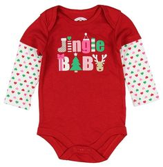 Assorted Santa, Reindeer Baby Boys & Girls Christmas Bodysuit Dress Up Outfit (0-3 Months, Jingle BABY)  https://www.amazon.com/dp/B017626OMM?m=A1WRMR2UE5PIS8&ref_=v_sp_detail_page