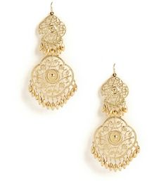 Gold Filigree Gypsy Earrings