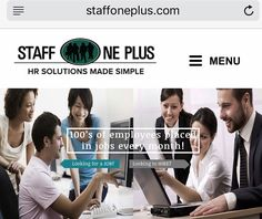 Hey #jobseekers check out our client Staff One Plus they cannot find enough people for all the jobs they have available! We created their website and a custom portal to help run their business... We provide next level business process optimization! http://ift.tt/2iADSKZ