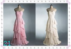 Too Much? - Long Ruffle Chiffon Dress Prom/Evening Dress Simple by 214EVER, $119.99