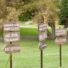 Rustic Wedding Road Signs on Etsy, $35.00