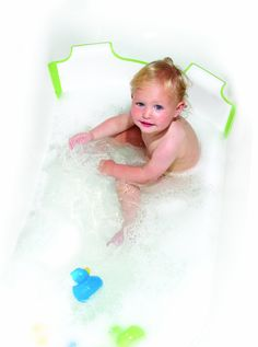 BabyDam Bathwater Barrier (White/Green): Amazon.co.uk: Baby