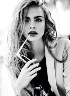 Cara Delevingne Black & White Photography                                                                                                                                                                                 More