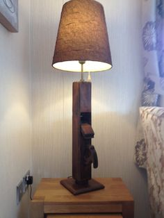 My Attempts - Upcycled Vintage Wood Plane Light