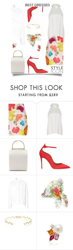 """""""Style"""" by sue-mes ❤ liked on Polyvore featuring Jonathan Cohen, Galvan, Besa Lighting, Aquazzura, Rosie Assoulin, Balenciaga and Holly Dyment"""