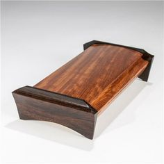Handmade Wooden Boxes Ideas | Mike Mikutowski-Handmade Wood Desk Box - Bubinga with Wenge-DB-04-BB ...