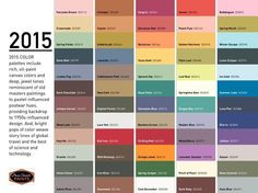 For living on pinterest color trends pantone and color palettes