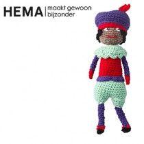 Gratis haakpatroon van Club Geluk om Zwarte Piet te haken #haken #haakpatroon #gratis