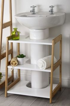 Lloyd Pascal Bamboo Under-Sink Shelves