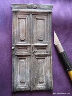 door - paper And acrylic colors