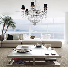 Clean white living room :) beauty!