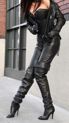 Discover a superb variety of girls' tall shoes. High Leather Boots, Leather And Lace, Black Leather, Biker Leather, Leather Gloves, Leather Pants, Thigh High Boots, High Heel Boots, Heeled Boots