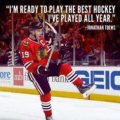 """The best hockey I've played all year..."" #Toews #OCaptain #Blackhawks"