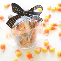 Snack mixes are definitely the way to go when feeding a group of hungry kids.  Sweet, salty, crunchy, chewy, a little of everything is sure to please a crowd.  After a recent soccer game, I passed out this Halloween Snack Mix to team of six and seven year old hungry boys.  It was a total hit!