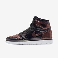 Jordan Air 1 Retro High Og Fearless Sneaker In Black Jordan 1, Michael Jordan, Logo Wings, Original Air Jordans, Jordan Shoes For Women, Metallic Look, Black Wings, Womens Jordans, Photos Of Women