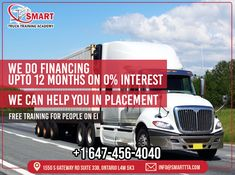 Are You a Truck Driver & Looking for a Truck to Buy? Don't Worry, At Smart Truck We Do Financing Upto 12 Months on 0% Interest. Isn't it Great. For More Info & Details Contact: Call: 647-456-4040 Email: Contact@smarttta.com Website: www.Smarttta.com  #TheSmartTruck #TruckTraining #TrainingAcademy #Financing