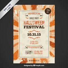 Retro halloween festival poster