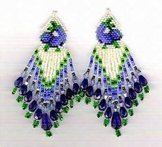 Texas Bluebonnet Beaded Earrings Pattern at Sova-Enterprises.com