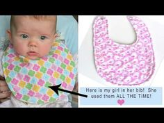Making bibs for your slobbering baby made easy with this pattern! Making bibs makes it easy to stop all the clean up :) Baby Sewing Projects, Sewing Tutorials, Sewing Tips, Sewing Ideas, Baby Bib Tutorial, Bib Pattern, Pattern Making, Baby Bibs Patterns, Sewing Equipment