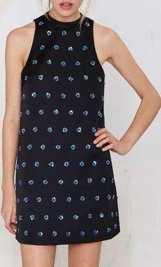 Keepsake Come A Little Closer Sequin Dress