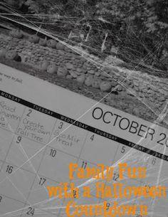 Countdown to Halloween - 30 fun activities