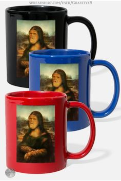 * Mona Gorilla Full Color Mug by #Gravityx9 at Spreadshirt #SpoofingTheArts * Three colors are available * 100% ceramic, Capacity: 11 fl oz * This Mona Lisa Gorilla design is available on shirts, bags, home decor and more! * Custom coffee mugs * custom drink ware * coffee mugs gift ideas * personalized coffee mugs gift ideas * gift ideas coworker * gift ideas friends * gift ideas adults * gift ideas coffee lovers * #coffeemug #drinkware #drinkwares #mug #kitchenware #monalisa 0920