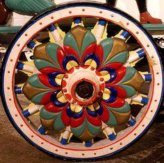 Antique Circus Wheel