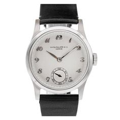 PATEK PHILIPPE 1940s ref. #96 Stainless Steel Wristwatch