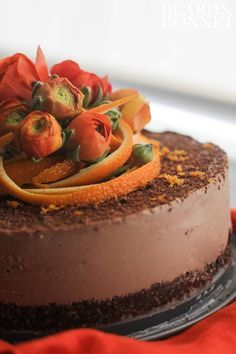 Raw Chocolate-Orange Torte From The Blender Girl Cookbook & A Giveaway #glutenfree #vegan #raw
