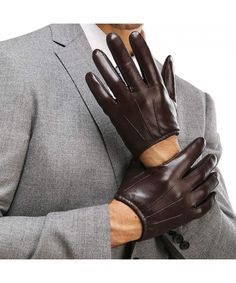 LEATHER DRIVING DRESS DRESSING POLICE STYLE MEN'S GLOVES CLASSIC RETRO VINTAGE