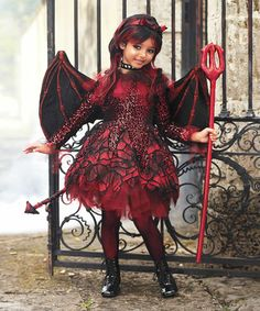 this punk devil girls costume has got plenty of attitude which should be encouraged just this once a wishcraft costume by chasing fireflies
