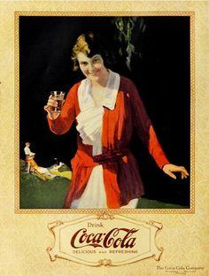 Drink up! #vintage #1920s #Coca_Cola #food #ads