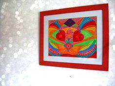 Meditation wall art. Chakra svadhisthana. Original di JannasCraft, $279.00