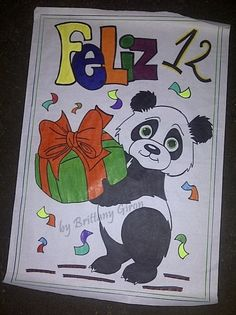 #BGbannerDIY #Banner #DIY #Celebration #Panda #Gift #Pancarta #Dibujo