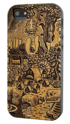 Frank in the Tempest: Pupshaw by Jim Woodring - Bamboo iPhone 5 case by Twig Case Co.