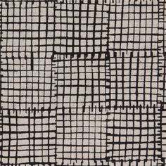 natural color with black grid design Canvas fabric Andover USA Maker Maker