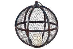 "13"" Caged Candleholder, Rust on OneKingsLane.com"